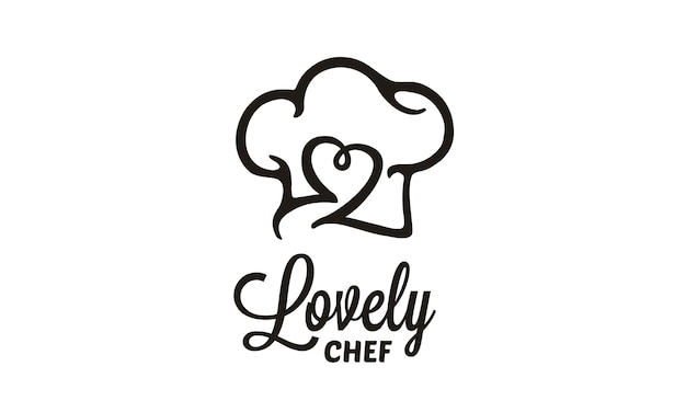 Design de logotipo de chef / restaurante Vetor Premium