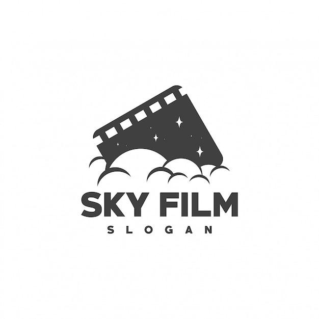 Design de logotipo de filme Vetor Premium