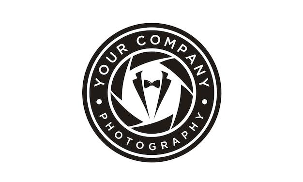 Design de logotipo de fotógrafo de moda Vetor Premium