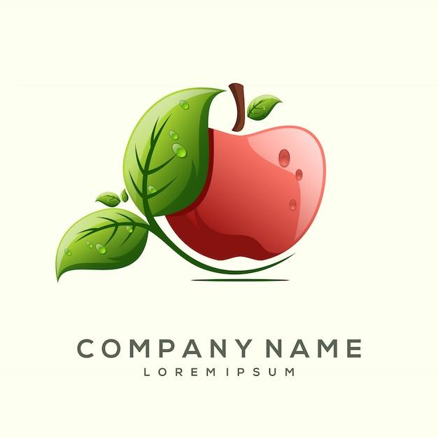 Design de logotipo de frutas premium Vetor Premium