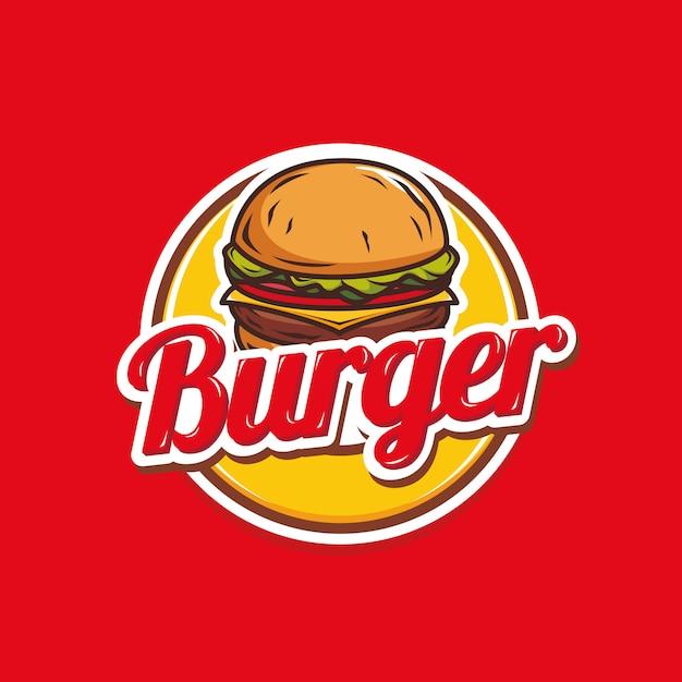 Design de logotipo de hambúrguer Vetor Premium