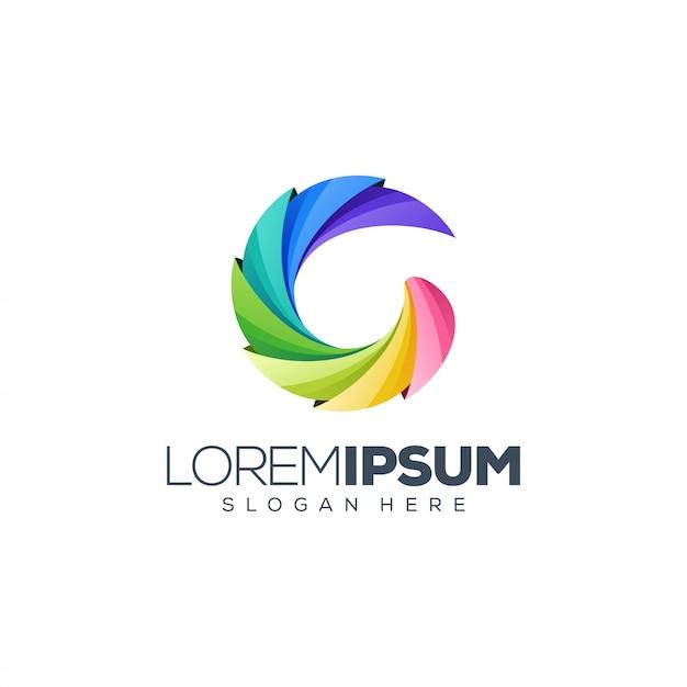 Design de logotipo de letra g Vetor Premium