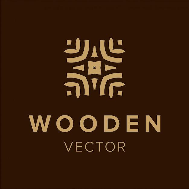 Design de logotipo de madeira. elemento de símbolo criativo para os negócios. ícone da moda modelo. Vetor Premium