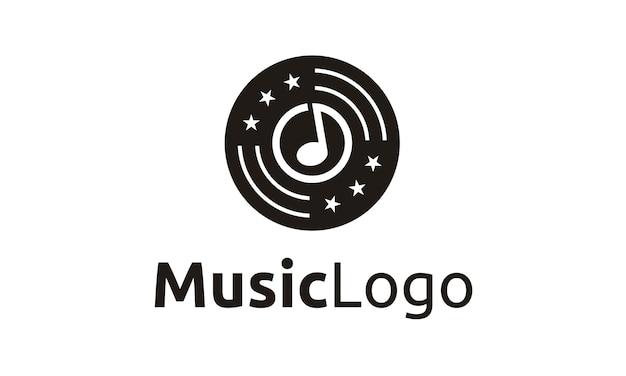 Design de logotipo de música / gravação Vetor Premium
