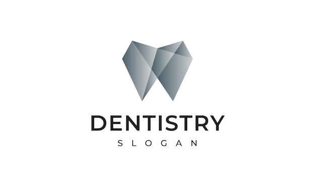 Design de logotipo de odontologia Vetor Premium