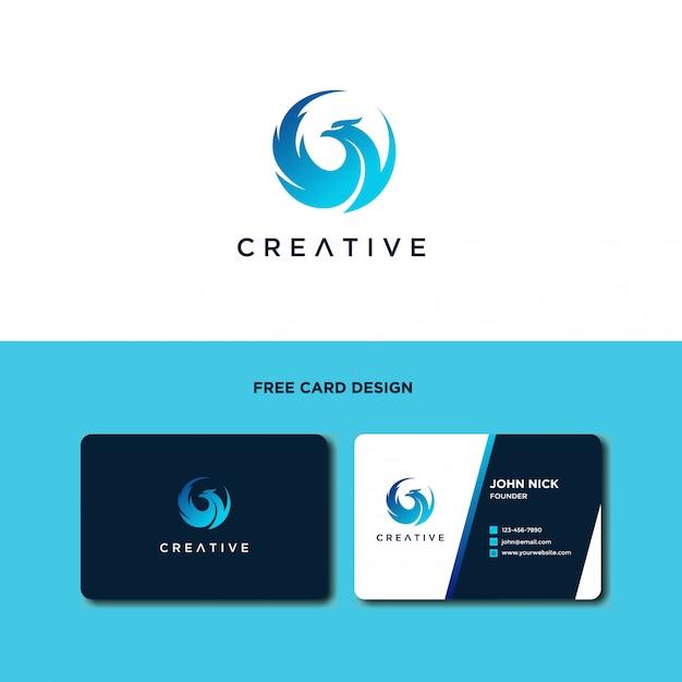 Design de logotipo de pássaro deslumbrante Vetor Premium