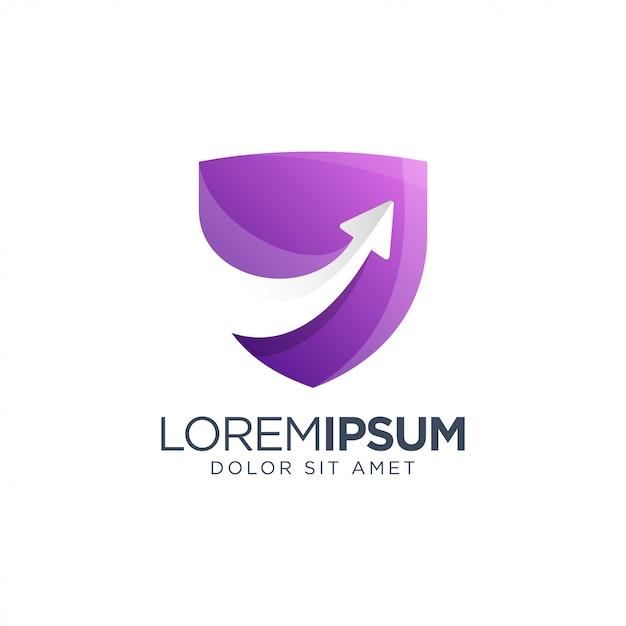 Design de logotipo de seta Vetor Premium