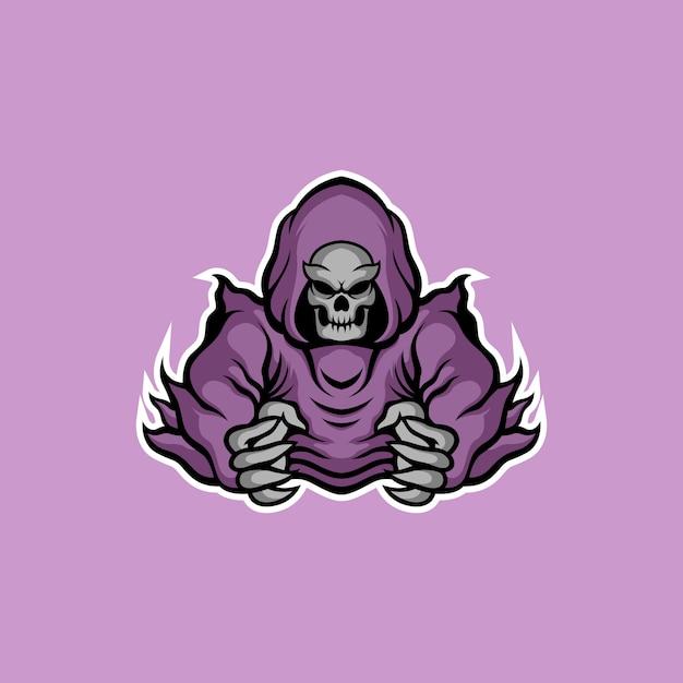Design de logotipo demoníaco Vetor Premium