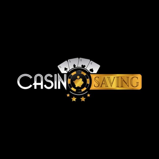 Design de logotipo do cassino Vetor Premium