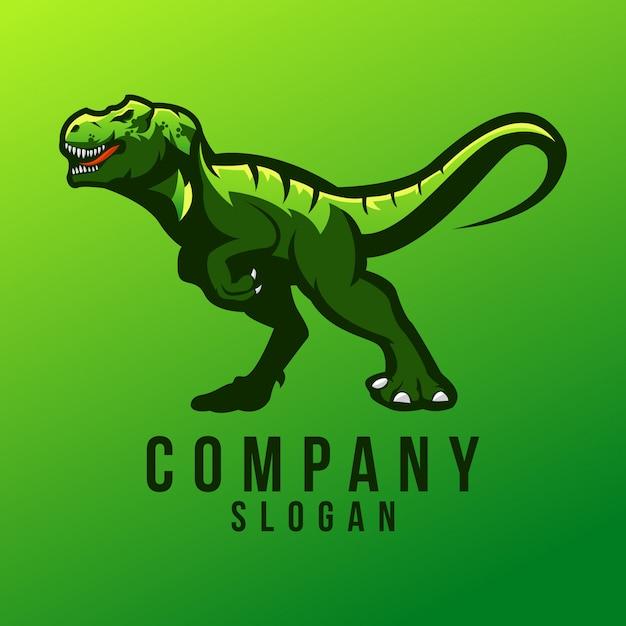 Design de logotipo do t-rex Vetor Premium