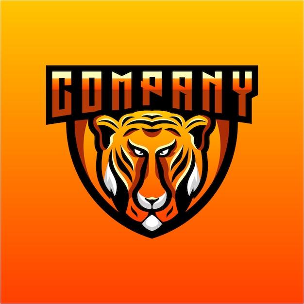 Design de logotipo do tigre Vetor Premium