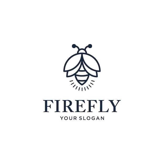 Design de logotipo elegante e minimalista com um estilo de linha Vetor Premium