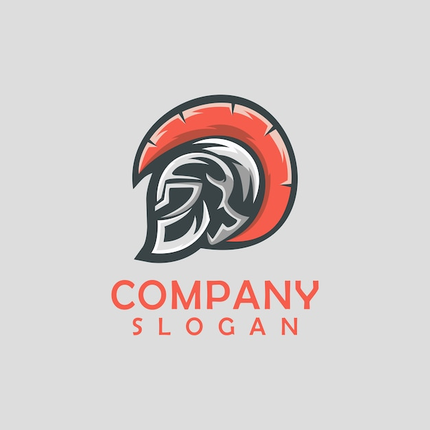 Design de logotipo espartano Vetor Premium