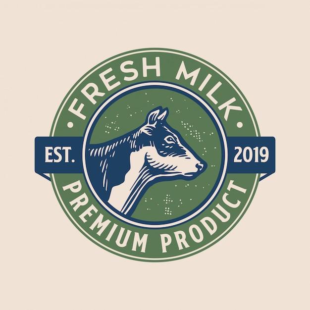 Design de logotipo fresco com estilo vintage Vetor Premium