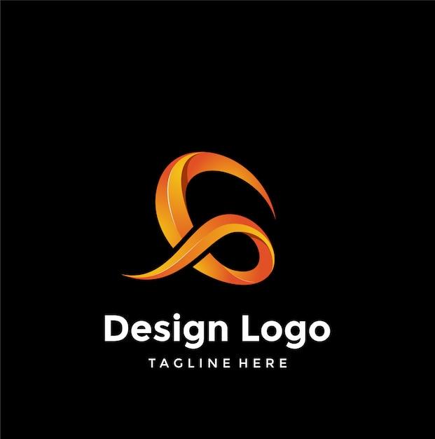 Design de logotipo g Vetor Premium