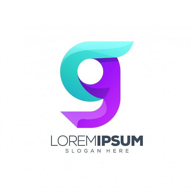 Design de logotipo letra g Vetor Premium