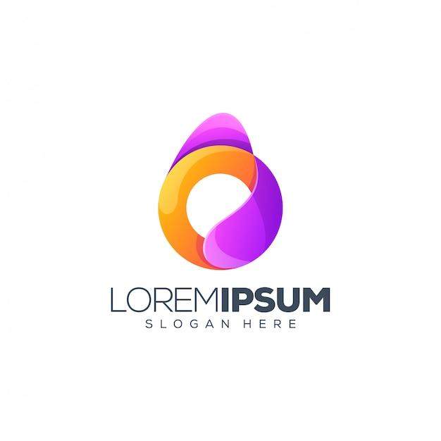 Design de logotipo letra o Vetor Premium