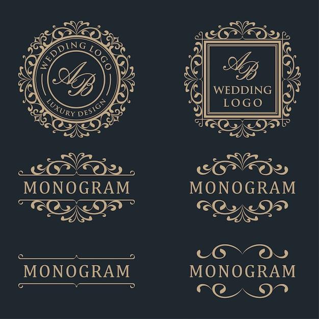Design de logotipo modelo de luxo Vetor Premium