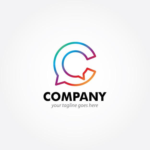 Design de logotipo moderno de monograma c Vetor Premium