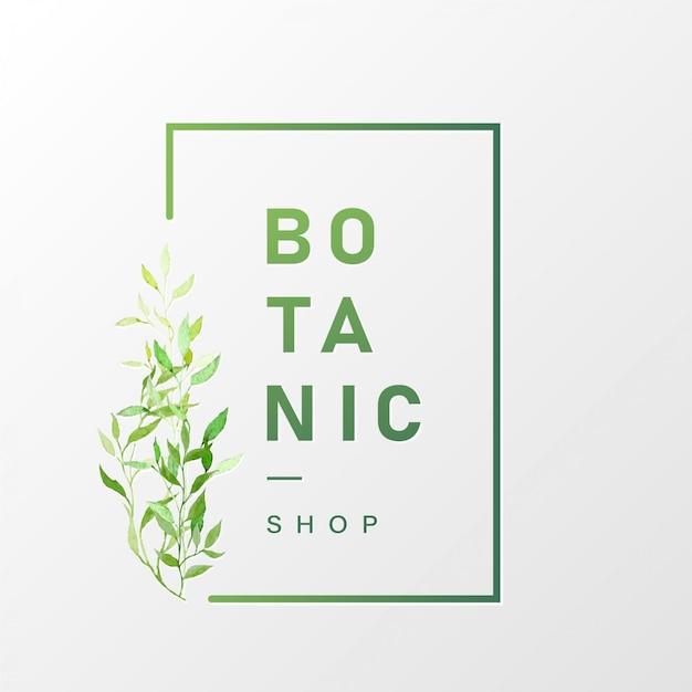 Design de logotipo natural para branding e identidade corporativa Vetor grátis