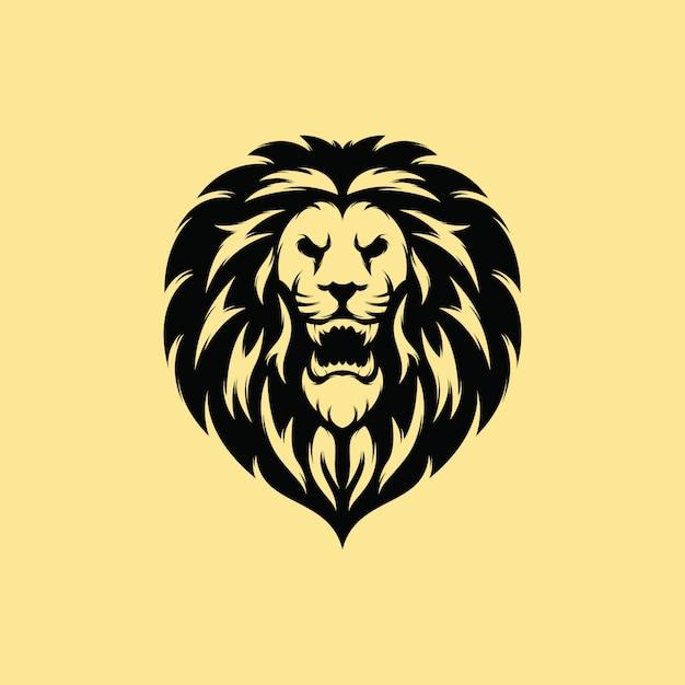 Design de logotipo premium leão Vetor Premium