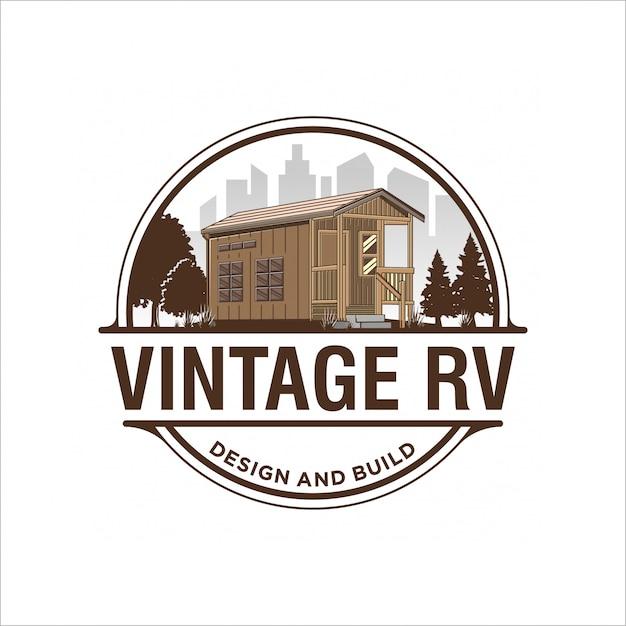 Design de logotipo rv Vetor Premium