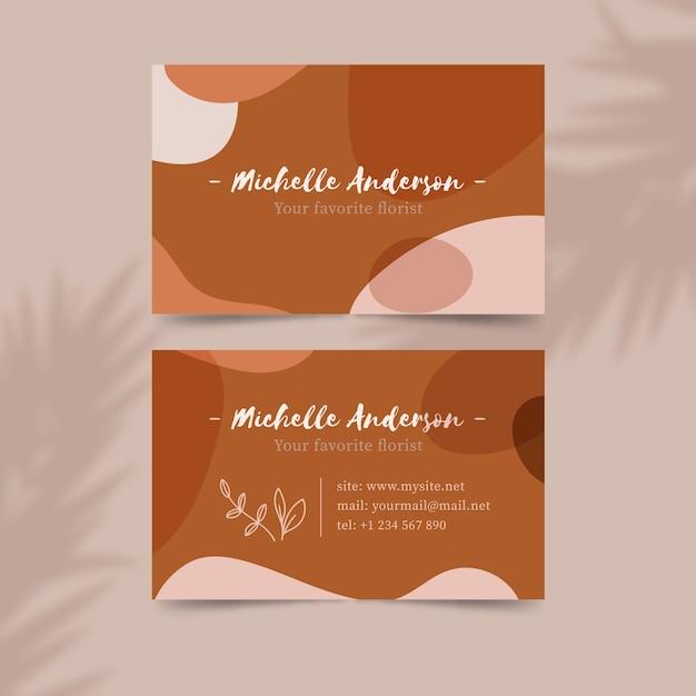 Design de manchas de cor pastel para cartão de visita Vetor grátis