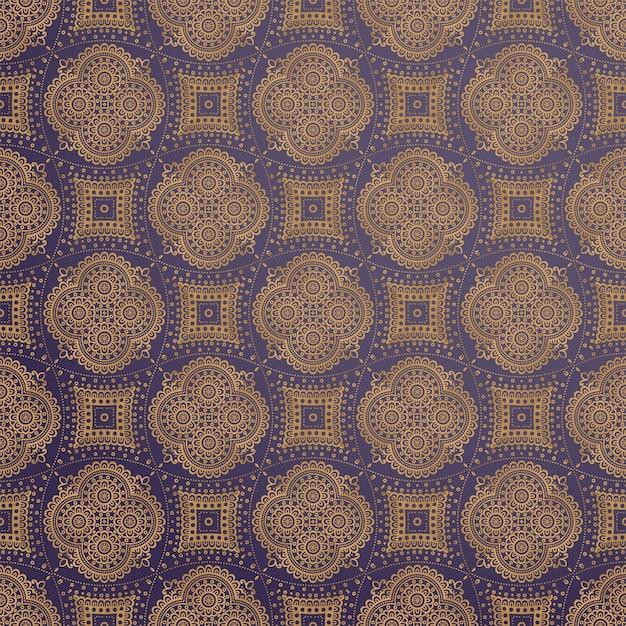 Design de mandala ornamental de luxo Vetor grátis