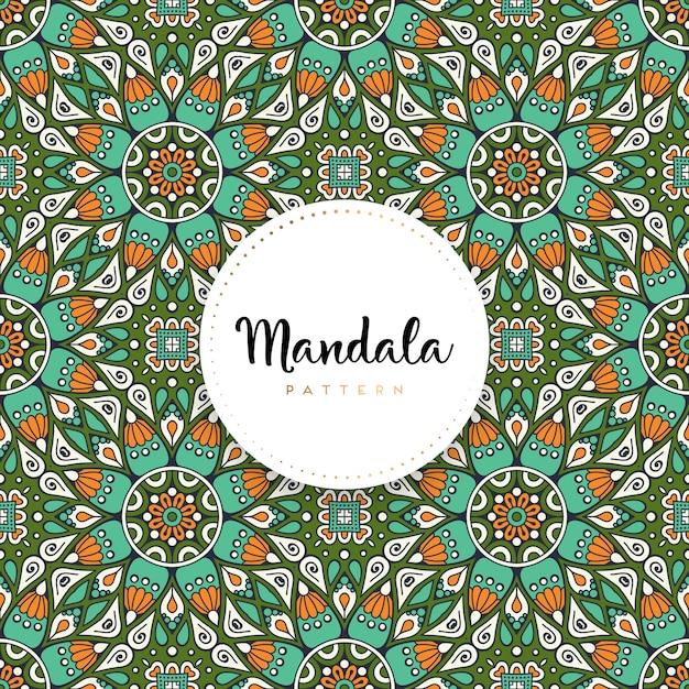 Design de mandala ornamental de luxo Vetor Premium