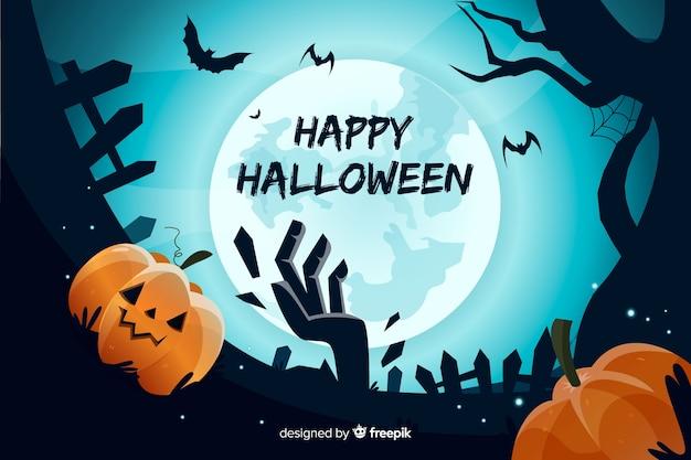 Design de mão desenhada de fundo de halloween Vetor grátis