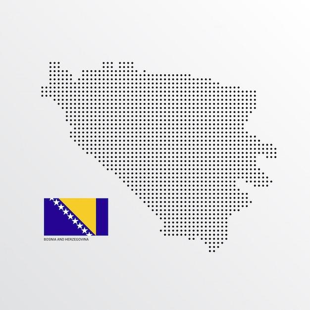 Design de mapa da bósnia e herzegovina Vetor grátis