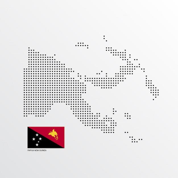 Design de mapa de papua nova guiné Vetor grátis