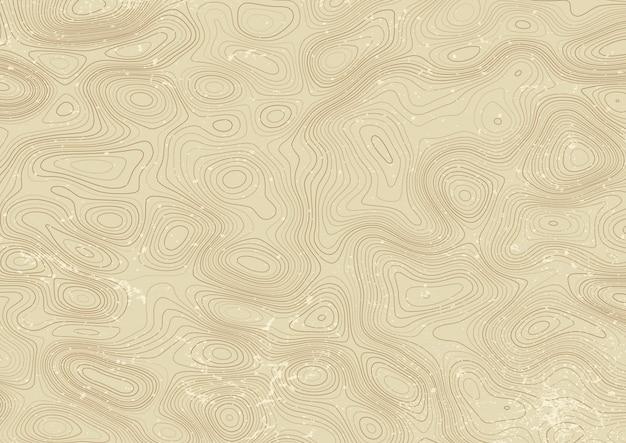 Design de mapa de topografia de estilo vintage Vetor grátis