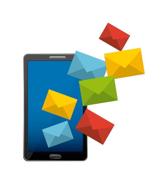 Design de marketing de correio Vetor Premium