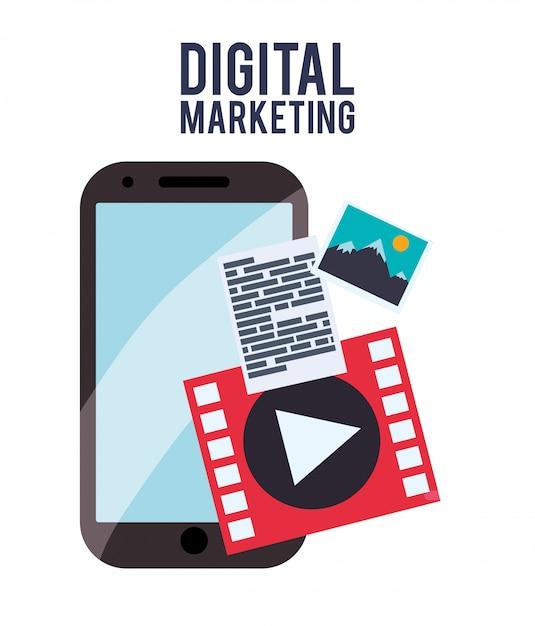 Design de marketing digital Vetor Premium