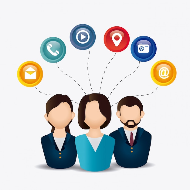 Design de mídia social. Vetor Premium