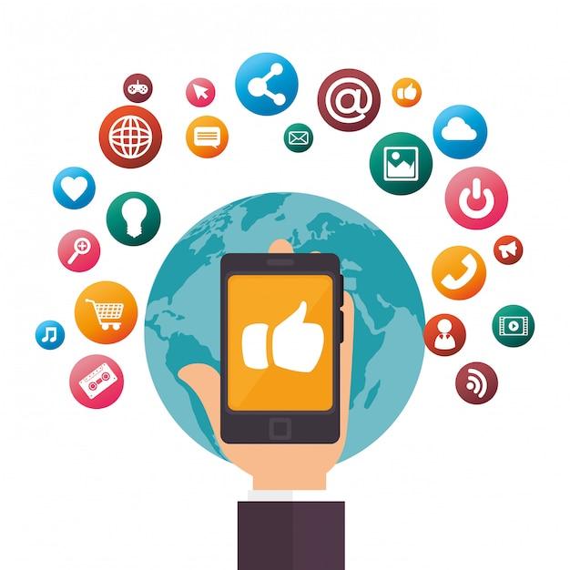 Design de mídia social Vetor grátis