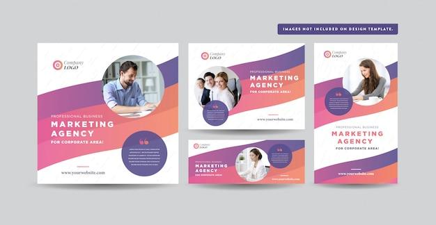 Design de mídias sociais | design de banner de site | instagram, facebook, twitter, design de anúncios vinculados Vetor Premium