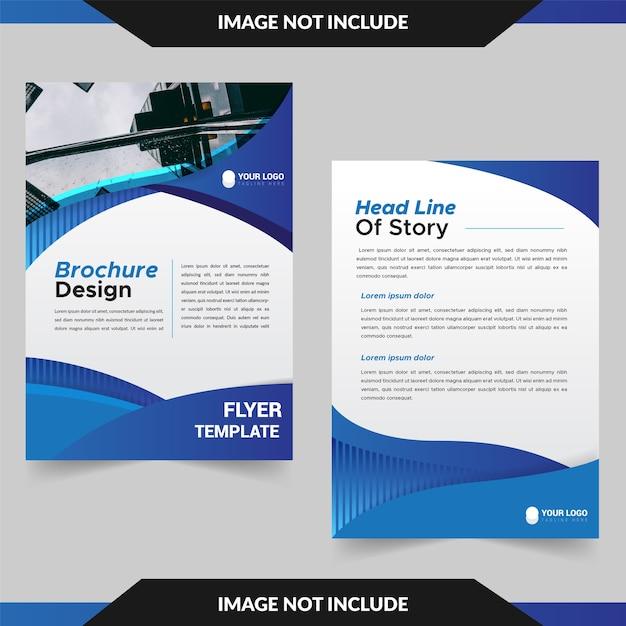 Design de modelo de apresentação de panfleto de negócios Vetor Premium