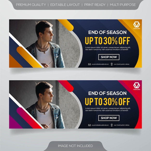 Design de modelo de banner da web Vetor Premium