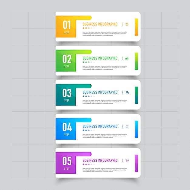 Design de modelo de banner de negócios infográfico. Vetor Premium