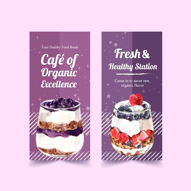 Design de modelo de banner vertical de alimentos saudáveis e orgânicos Vetor grátis