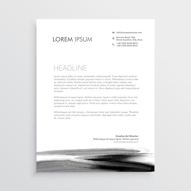 Design de modelo de cabeçalho abstrato com traço de tinta Vetor grátis