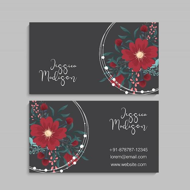 Design de modelo de cartão de convite de saudação botânica Vetor Premium