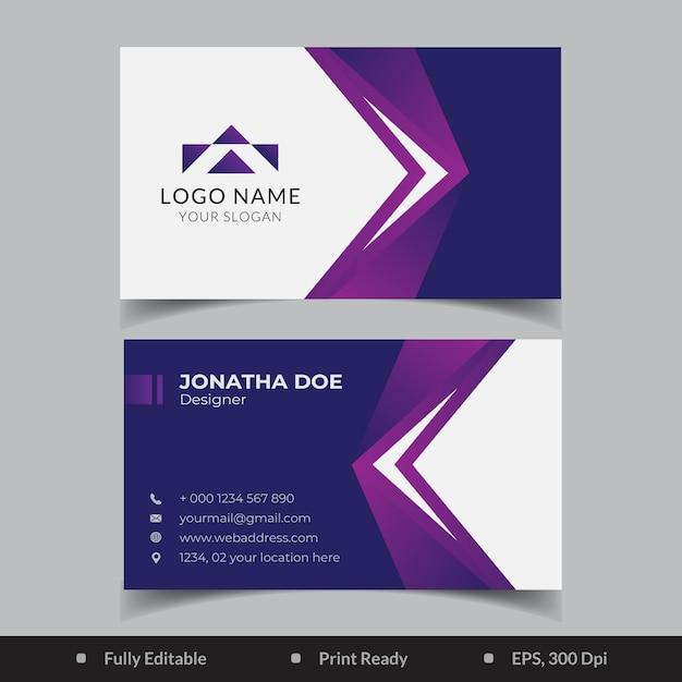 Design de modelo de cartão de visita elegante gradiente Vetor Premium