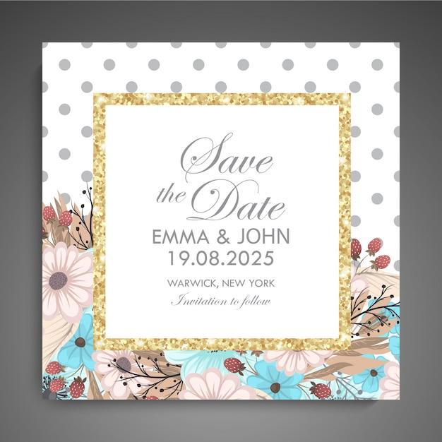 Design de modelo de cartão floral Vetor Premium