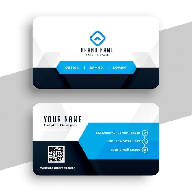 Design de modelo de cartão profissional azul moderno Vetor grátis