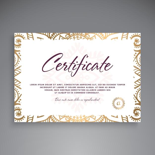 Design de modelo de certificado profissional Vetor grátis