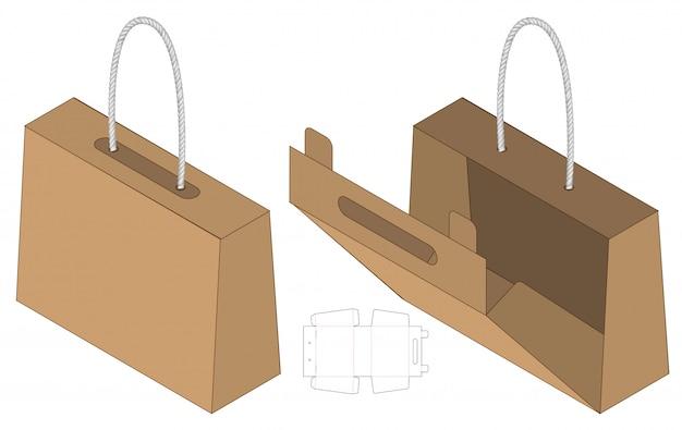 Design de modelo de corte de caixa de embalagem Vetor Premium