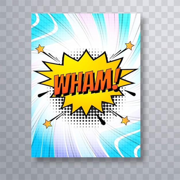 Design de modelo de folheto colorido em quadrinhos pop art Vetor grátis